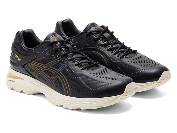 Front Right view of GEL-KAYANO 25 SPS, BLACK/BLACK