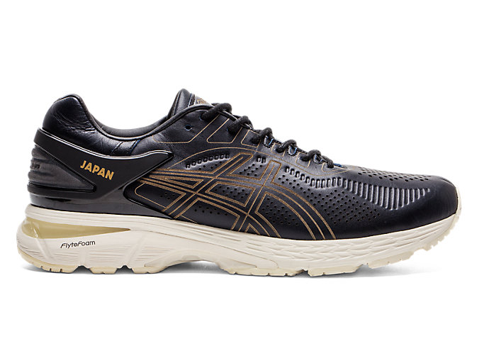 Right side view of GEL-KAYANO 25 SPS, BLACK/BLACK