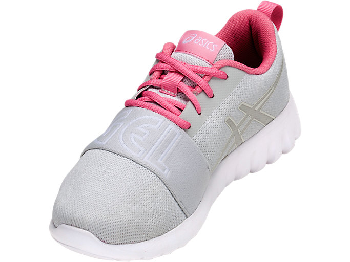 Front Left view of GEL-QUANTIFIER GS, WHITE/GLACIER GREY