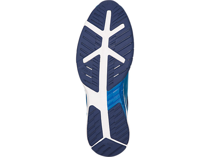 Bottom view of QUEST FF, RACE BLUE/WHITE