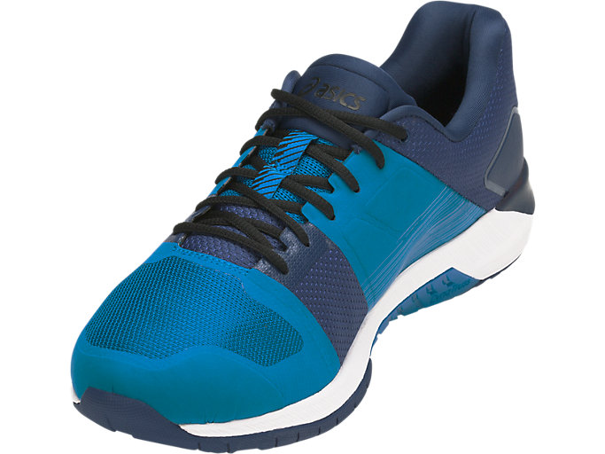 Front Left view of QUEST FF, RACE BLUE/WHITE