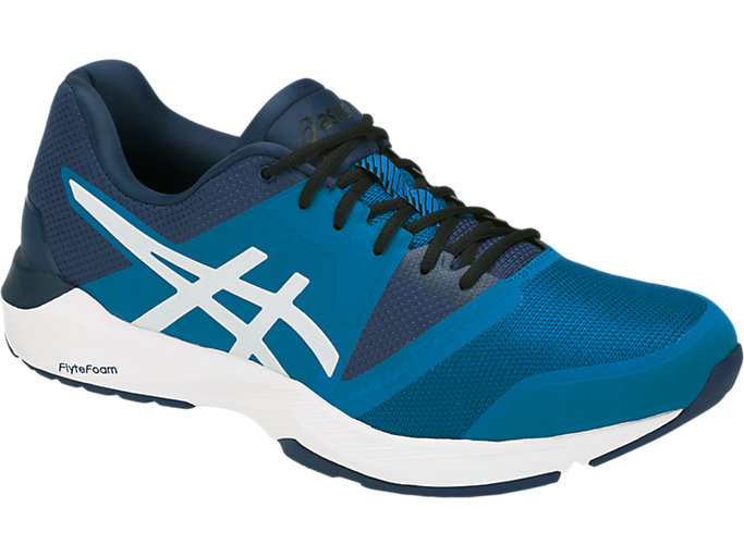Front Right view of QUEST FF, RACE BLUE/WHITE