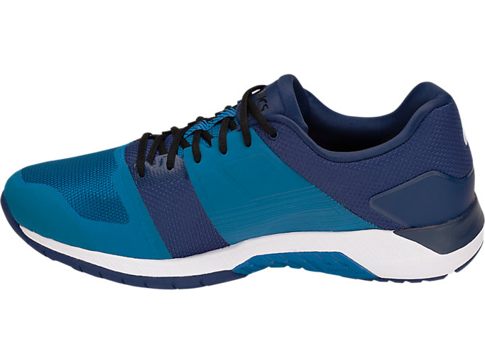 Left side view of QUEST FF, RACE BLUE/WHITE