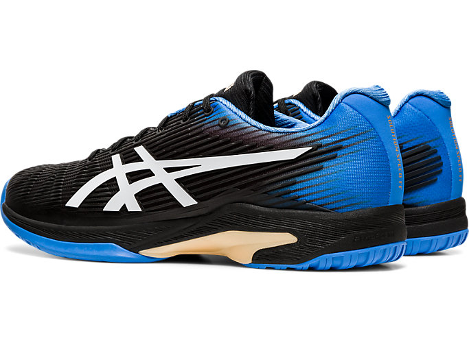 Front Left view of SOLUTION SPEED FF, BLACK/BLUE COAST