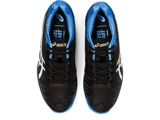 Top view of SOLUTION SPEED FF, BLACK/BLUE COAST