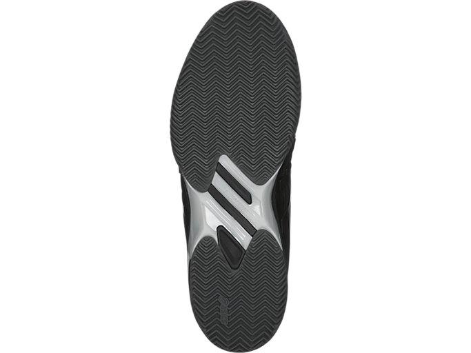 Bottom view of SOLUTION SPEED FF CLAY, BLACK/SILVER