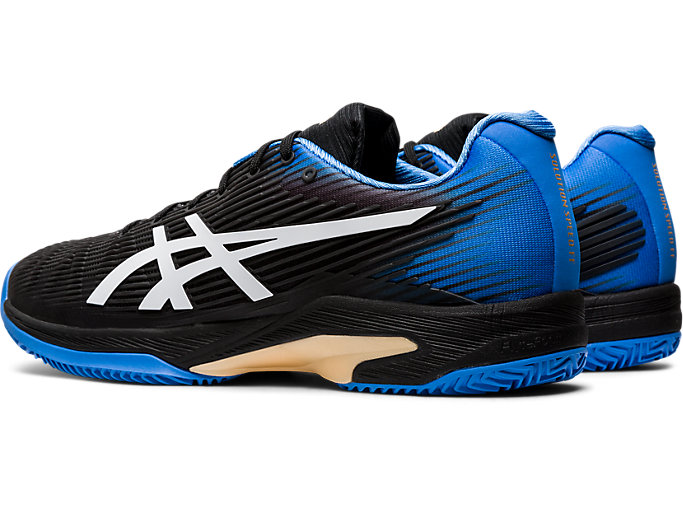 Front Left view of SOLUTION SPEED FF CLAY, BLACK/BLUE COAST