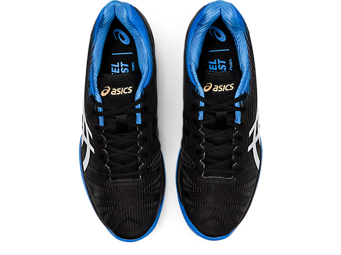 Top view of SOLUTION SPEED FF CLAY, BLACK/BLUE COAST