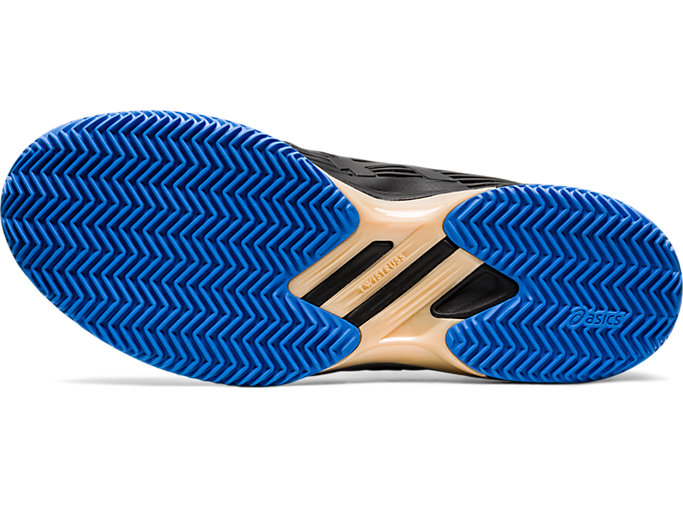Bottom view of SOLUTION SPEED FF CLAY, BLACK/BLUE COAST