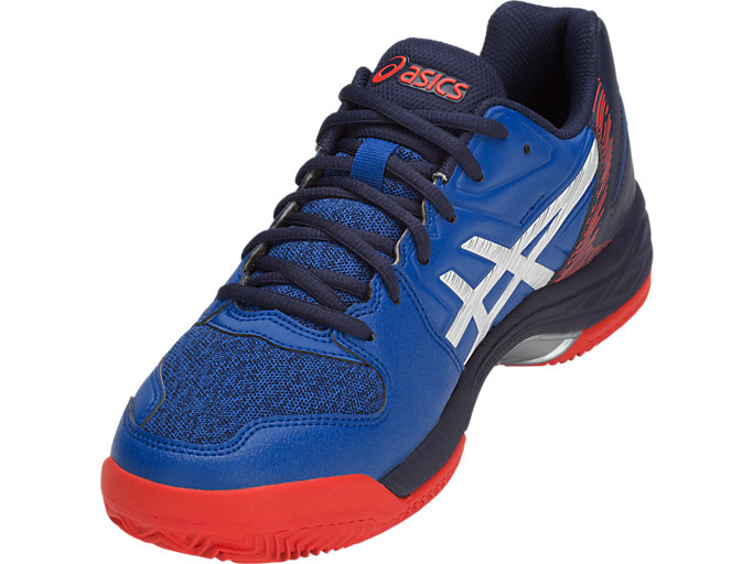 Front Left view of GEL-PADEL™ EXCLUSIVE 5 SG, ASICS BLUE/WHITE