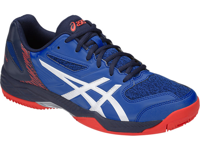 Front Right view of GEL-PADEL™ EXCLUSIVE 5 SG, ASICS BLUE/WHITE