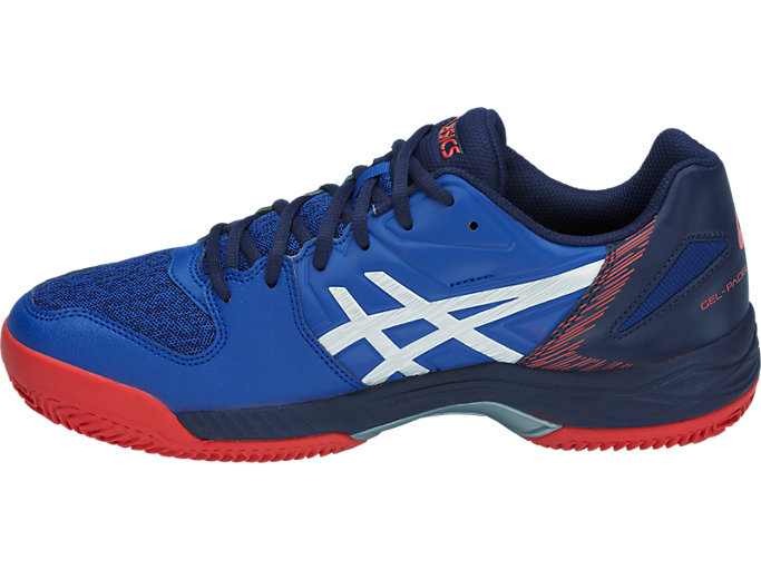 Left side view of GEL-PADEL™ EXCLUSIVE 5 SG, ASICS BLUE/WHITE