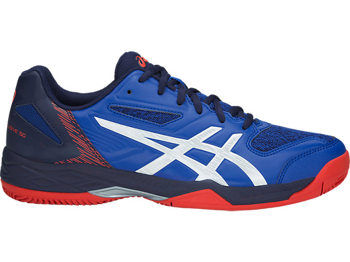Right side view of GEL-PADEL™ EXCLUSIVE 5 SG, ASICS BLUE/WHITE