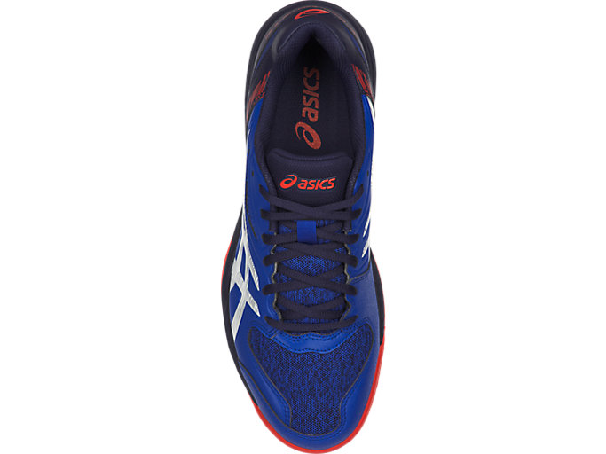 Top view of GEL-PADEL™ EXCLUSIVE 5 SG, ASICS BLUE/WHITE
