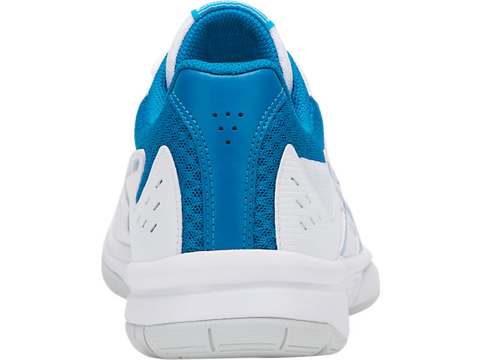 Back view of COURT SLIDE™, WHITE/RACE BLUE
