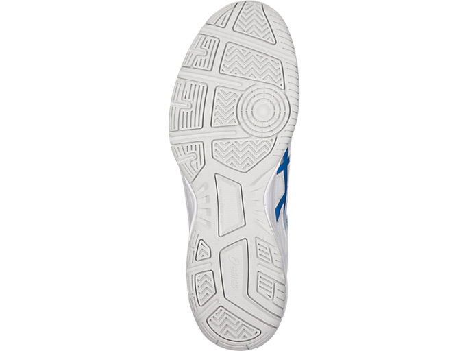 Bottom view of COURT SLIDE™, WHITE/RACE BLUE