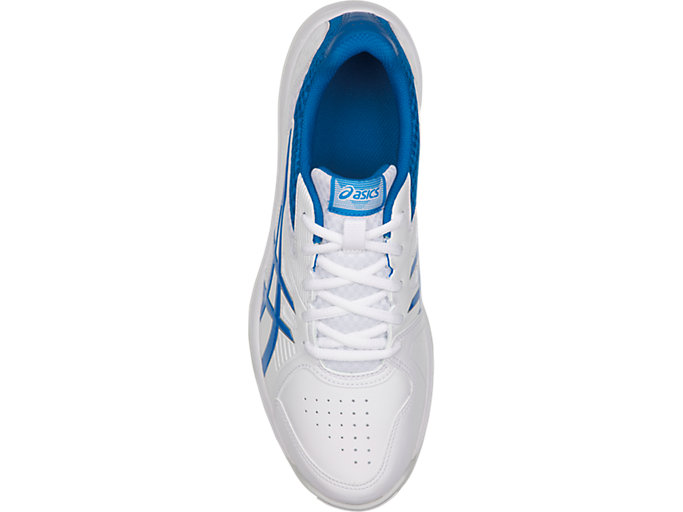 Top view of COURT SLIDE™, WHITE/RACE BLUE
