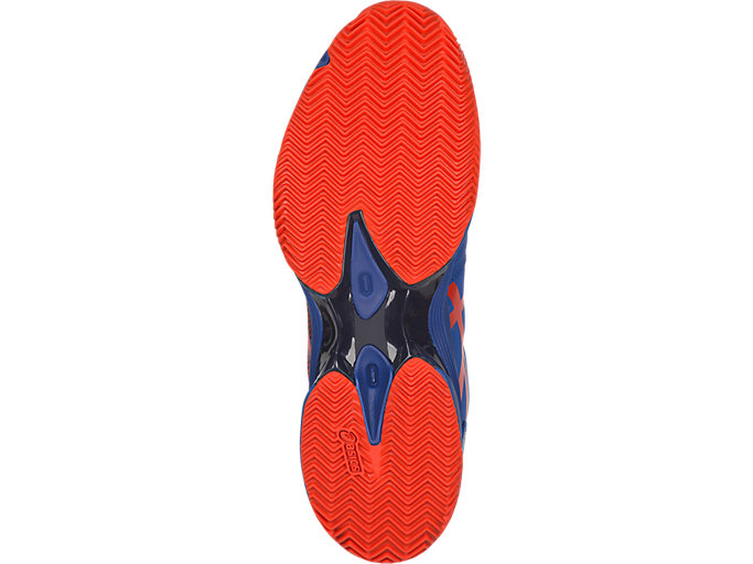 Bottom view of GEL-LIMA™ PADEL, ASICS BLUE/FIERY RED