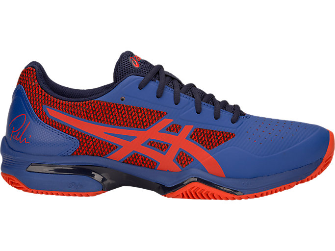 Right side view of GEL-LIMA™ PADEL, ASICS BLUE/FIERY RED