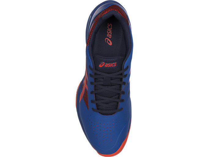 Top view of GEL-LIMA™ PADEL, ASICS BLUE/FIERY RED