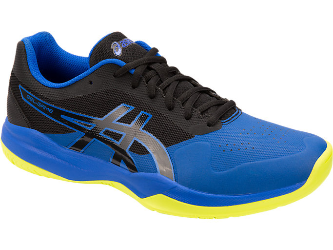 Front Right view of GEL-GAME™ 7, BLACK/ILLUSION BLUE