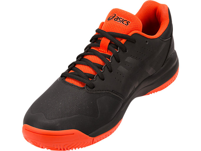 Front Left view of GEL-GAME™ 7 CLAY, BLACK/CHERRY TOMATO