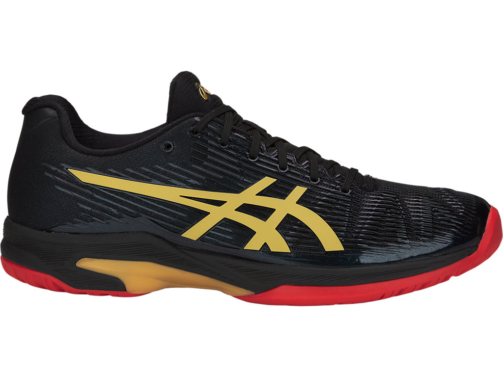 ASICS Solution Speed FF Le Black / Rich Gold Hombre