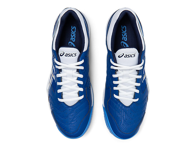 Top view of GEL-DEDICATE™ 6 CLAY, ASICS BLUE/WHITE