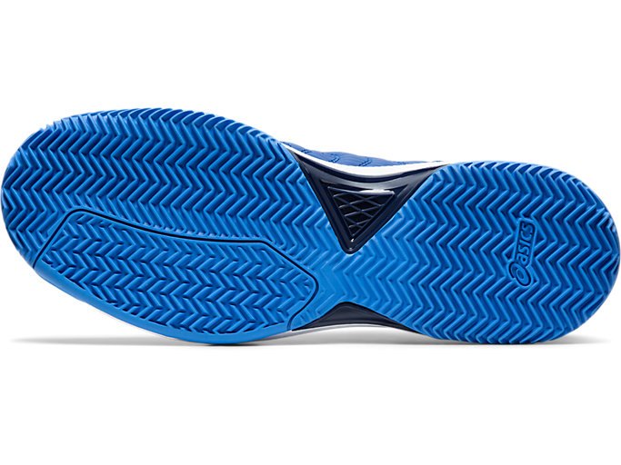 Bottom view of GEL-DEDICATE™ 6 CLAY, ASICS BLUE/WHITE