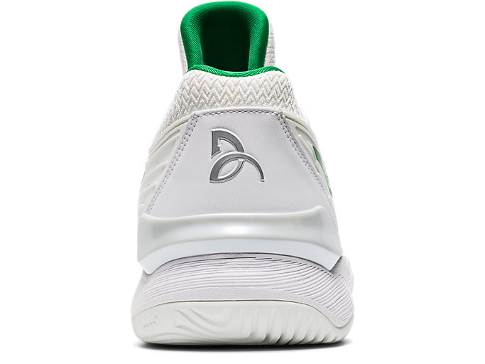 Back view of COURT FF™ NOVAK, WHITE/GREEN