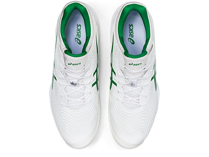 Top view of COURT FF™ NOVAK, WHITE/GREEN