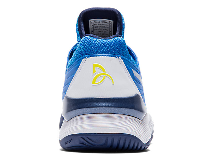 Back view of COURT FF™ NOVAK, ELECTRIC BLUE/WHITE