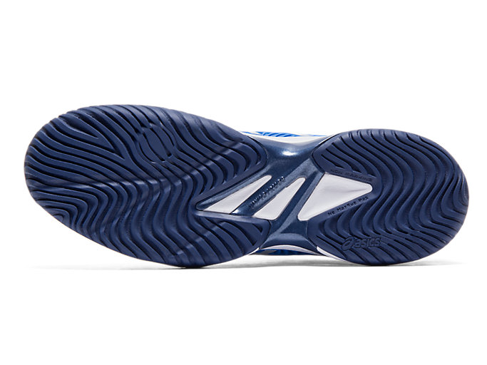 Bottom view of COURT FF™ NOVAK, ELECTRIC BLUE/WHITE