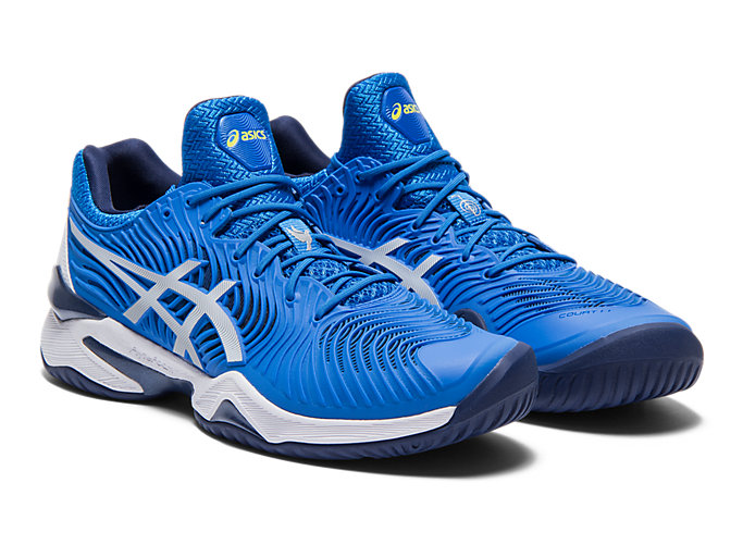 Front Right view of COURT FF™, ELECTRIC BLUE/WHITE