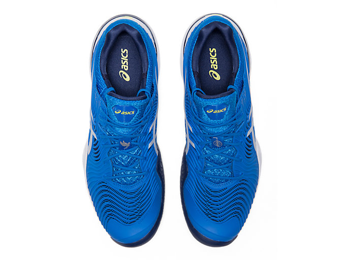 Top view of COURT FF™, ELECTRIC BLUE/WHITE