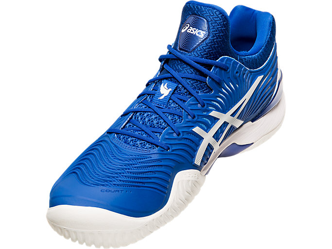Front Left view of COURT FF™, ASICS BLUE/WHITE