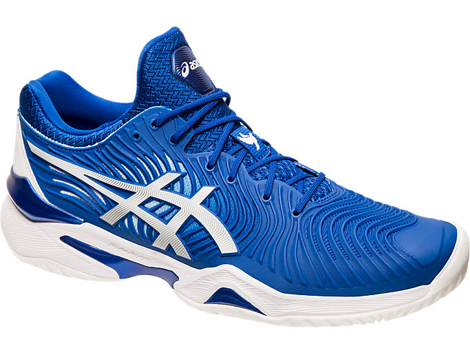 Front Right view of COURT FF™, ASICS BLUE/WHITE