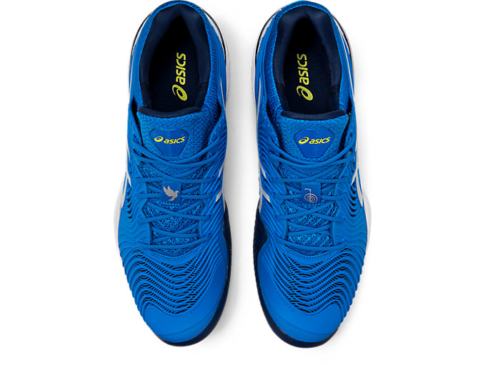 Top view of COURT FF™  NOVAK CLAY, ELECTRIC BLUE/WHITE