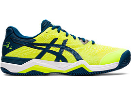 Right side view of GEL-BELA™ 7, SAFETY YELLOW/ASICS BLUE