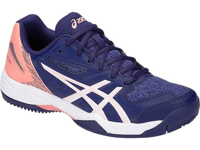 Front Right view of GEL-PADEL EXCLUSIVE 5 SG, INDIGO BLUE/WHITE