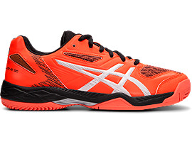 Right side view of GEL-PADEL™ EXCLUSIVE 5 SG, FLASH CORAL/WHITE