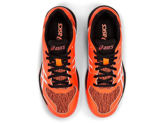 Top view of GEL-PADEL EXCLUSIVE 5 SG, FLASH CORAL/WHITE