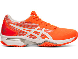 Right side view of GEL-LIMA™ PADEL, FLASH CORAL/WHITE