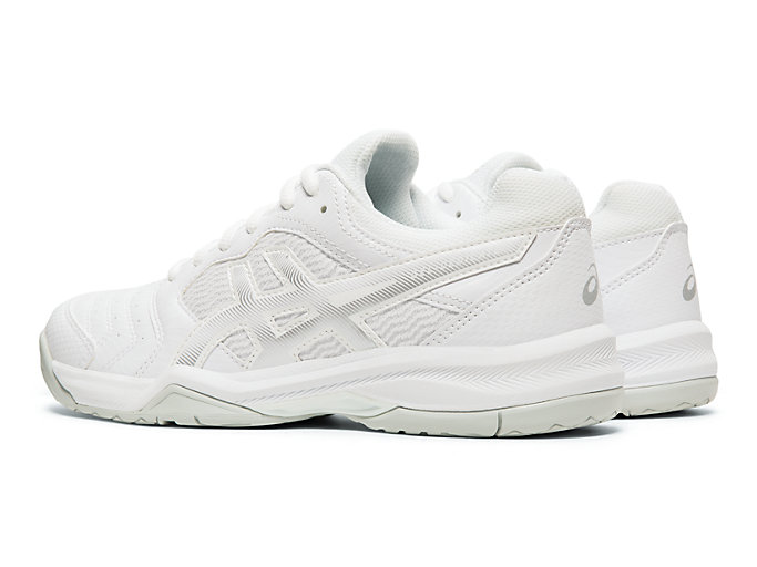 Front Left view of GEL-DEDICATE™ 6, WHITE/SILVER