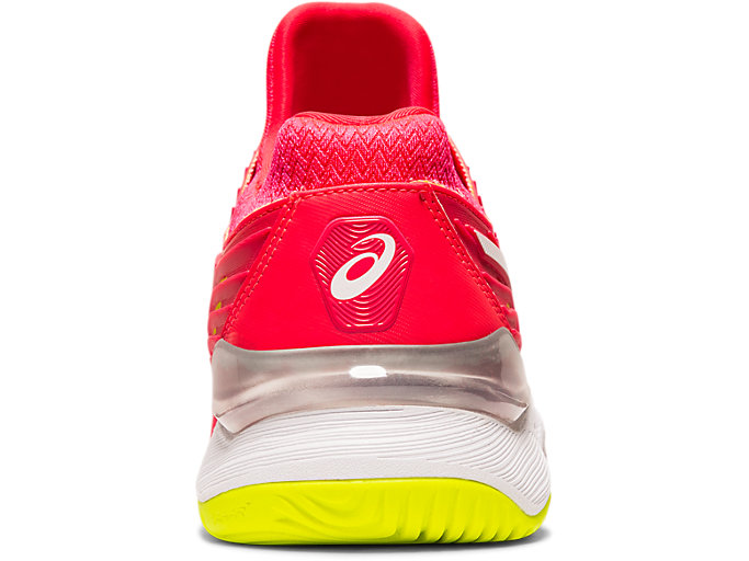 Back view of COURT FF™, LASER PINK/WHITE