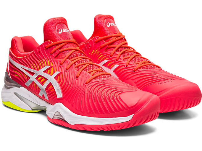 Front Right view of COURT FF™, LASER PINK/WHITE