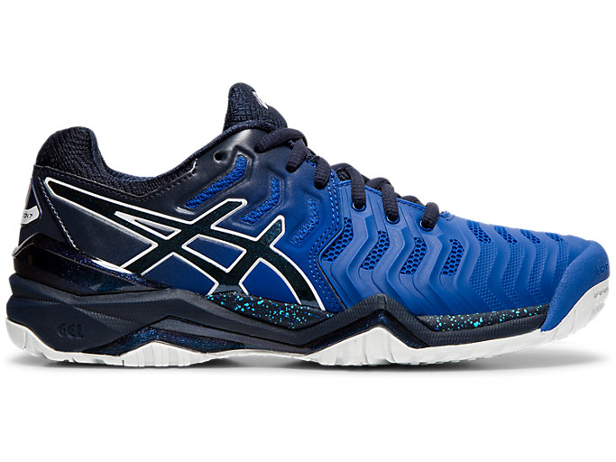 Right side view of GEL-RESOLUTION 7 OC AWC, ASICS BLUE/MIDNIGHT