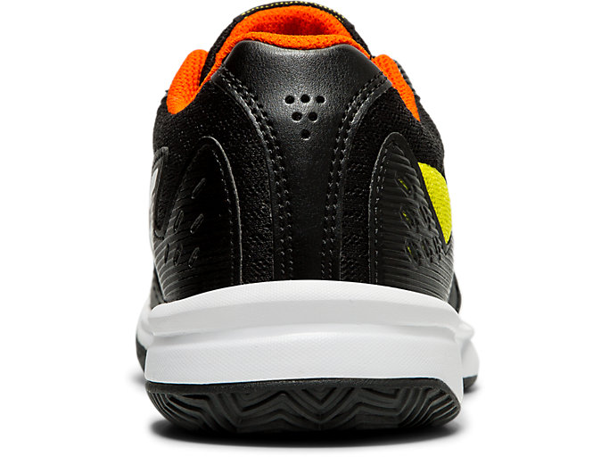 Back view of COURT SLIDE™ CLAY GS, BLACK/WHITE