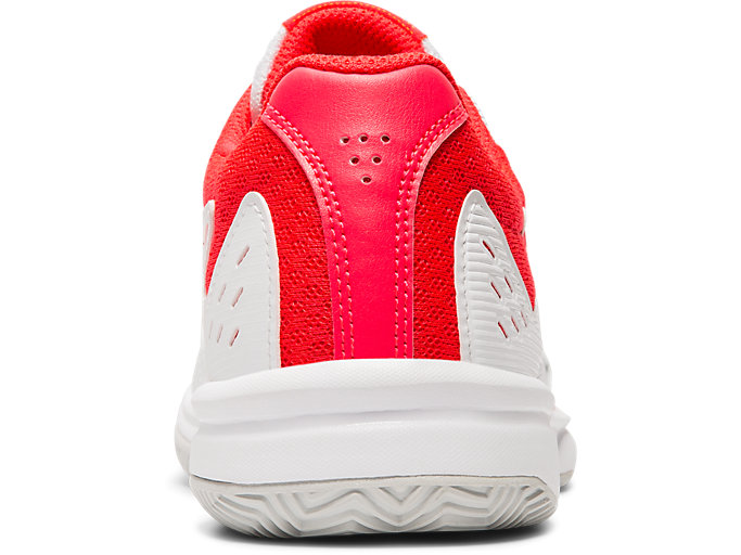 Back view of COURTSLIDE CLAY GS, WHITE/LASER PINK