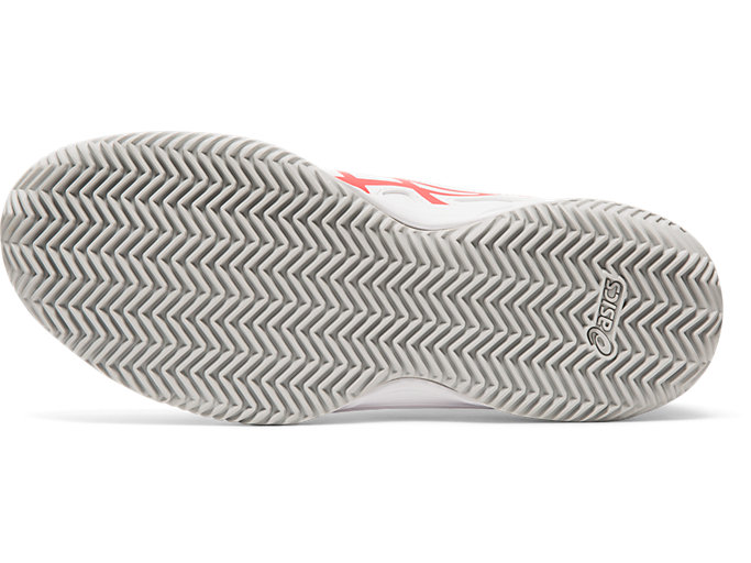 Bottom view of COURTSLIDE CLAY GS, WHITE/LASER PINK